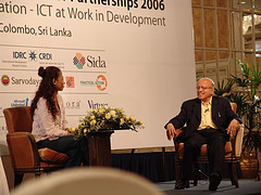 Rinalia speaks with M.S. Swaminathan